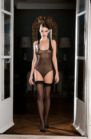 Nuit Blanche bodysuit by Maison Close